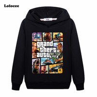 Kids Cartoon GTA Hoodie T Shirt Street Long With GTA 5 T Shirt Famous Brand Sweatshirt