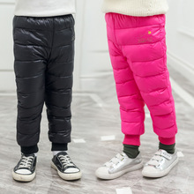 hot deal buy girls pants winter pants for boys children down cotton trousers warm pants for girls kids clothes waterproof ski toddler pants