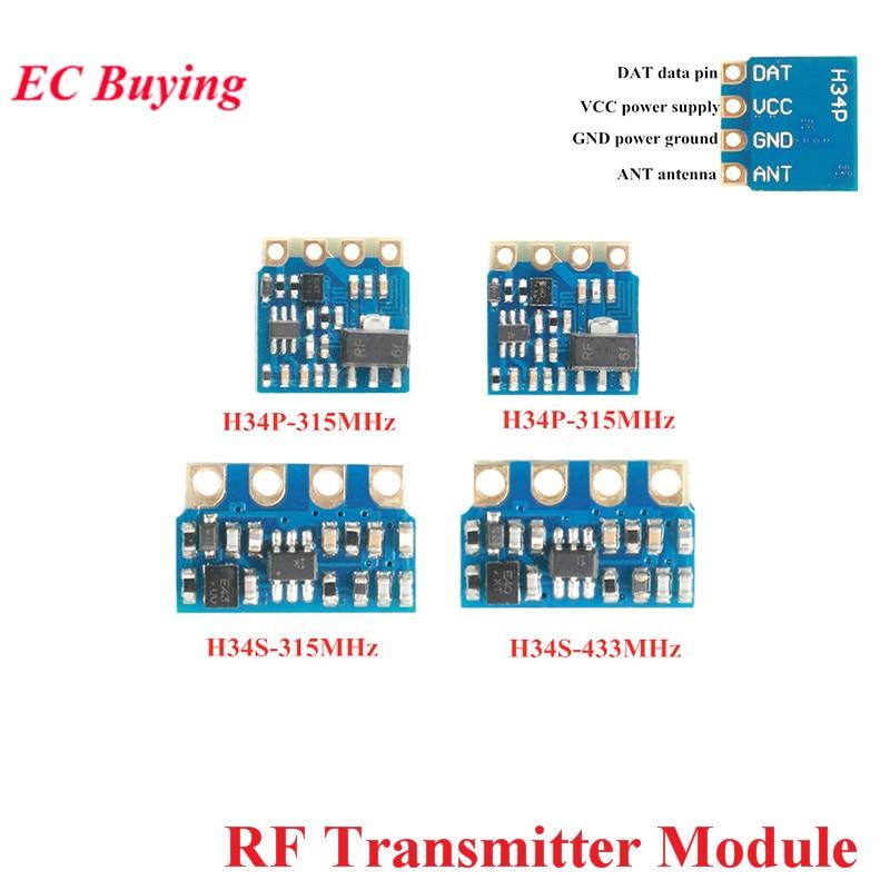 315 MHz 433 MHz RF Sender Modul Drahtlose Fernbedienung Modul H34P H34S 1000 Meter Fern Starten FRAGEN/ OOK DIY Kit