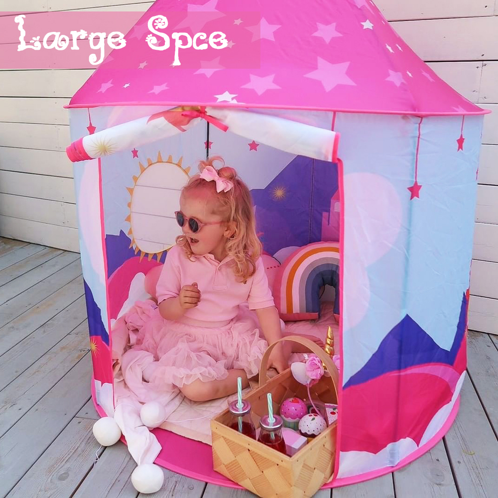 Wonder Space Princess Unicorn Play Tent Fairy Unicorn Pop Up playhouse For Children Girl 39 s Indoor amp Outdoor Dream Party Castle in Toy Tents from Toys amp Hobbies