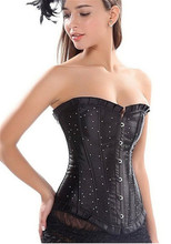 AIZEN overbust costum corsets and bustiers / rhinestone brocade