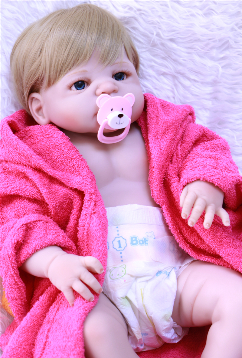 Boy girl doll reborn 22 55cm full silicone reborn baby dolls with bathrobes child play house