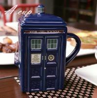 Doctor Who Tardis Creative Police Box Mug Painting Funny Ceramic Coffee Breakfast Milk Water Mug Porcelain Cup Zakka Novelty