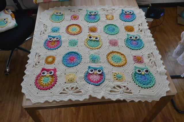 Free Shipping 2014 New Cotton Crochet Baby Blanket With Flowers And