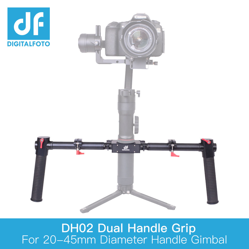 Dual Grip Bracket Handle 20-45mm Extend Handheld for Zhiyun Crane 2 Plus MOZA Air DJI 3 axis Gimbal stabilizer Feiyu a1000/a2000Dual Grip Bracket Handle 20-45mm Extend Handheld for Zhiyun Crane 2 Plus MOZA Air DJI 3 axis Gimbal stabilizer Feiyu a1000/a2000