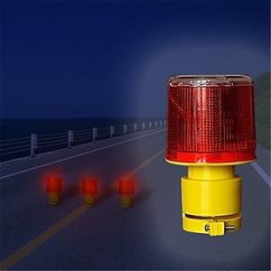 Image 2 - ソーラー警告灯 led 安全信号ビーコン警報エネルギーランプソーラー交通タワーストロボ赤イエロー緊急ライト