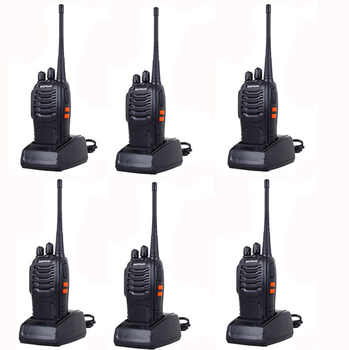 6pcs NEW Portable Walkie Talkie Two Way Radios UHF Ham Radio HF Transceiver Baofeng 888 For CB Radio Station Baofeng Bf-888s - Category 🛒 Cellphones & Telecommunications