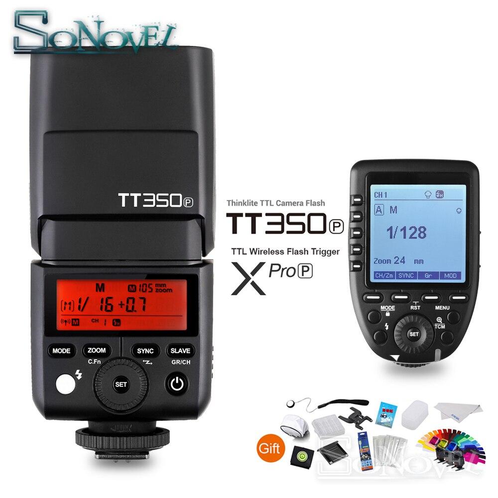 GODOX Mini TT350P TT350 TTL HSS 2.4 GHz Sans Fil Flash XPro-P Trigger pour Pentax 645Z K-3II K-1 KP k-50 K-S2 K70 K-5 IIs Caméra