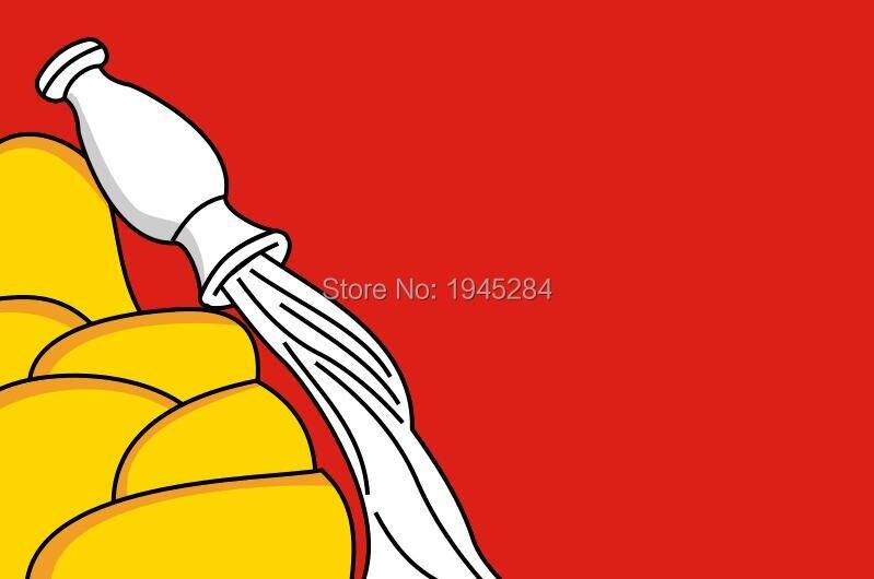 Flagga Voronezh Oblast Rysslands national flagga Nya 3x5ft 90x150 cm polyester banner flagga gratis frakt