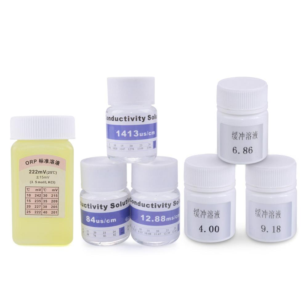 Teste de água Potencial Redox ORP Calibração Solução Tampão pH EC Caneta Fluido Solução Padrão de Calibração