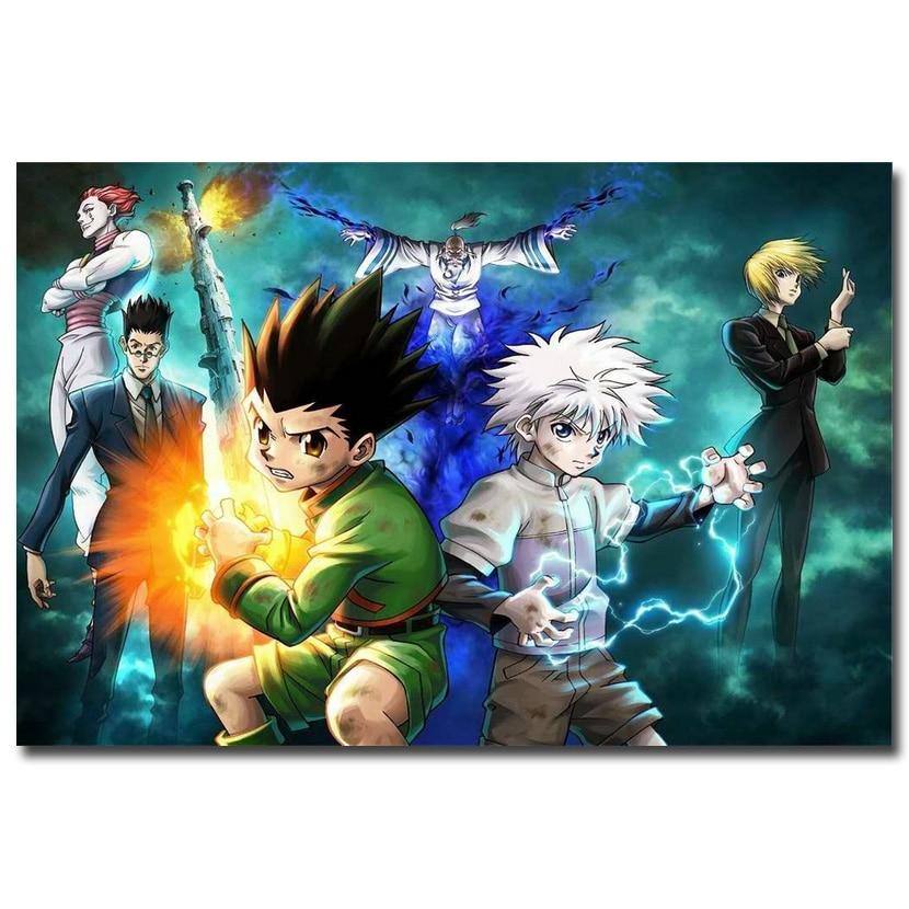 Φ Φhunter x hunter anime art silk fabric poster print 12x18 24x36