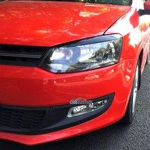 Carmonsons, автомобильные фары, веки, брови, АБС накладка, наклейки, покрытие для Volkswagen VW Polo MK5 2011-, аксессуары для стайлинга автомобилей