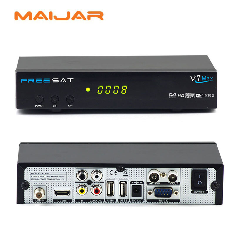 ФОТО  original cheap set top box Freesat V7max support cccam,powervu,bisskey youtube youporn and usb wifi free to air receiver v7 max