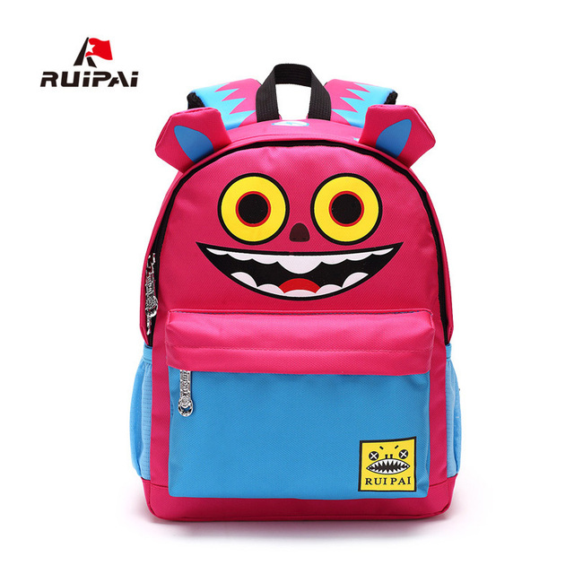 32e31aff74 RUIPAI Cute Cartoon Children s School Bag Creative Printing Backpack  Schoolbag Unique Dual Use Travel Bag CL