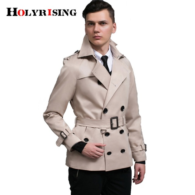 spring men trench coat double breasted mens overcoat classic mens trench coat slim casaco england clothing #18221 holyrising
