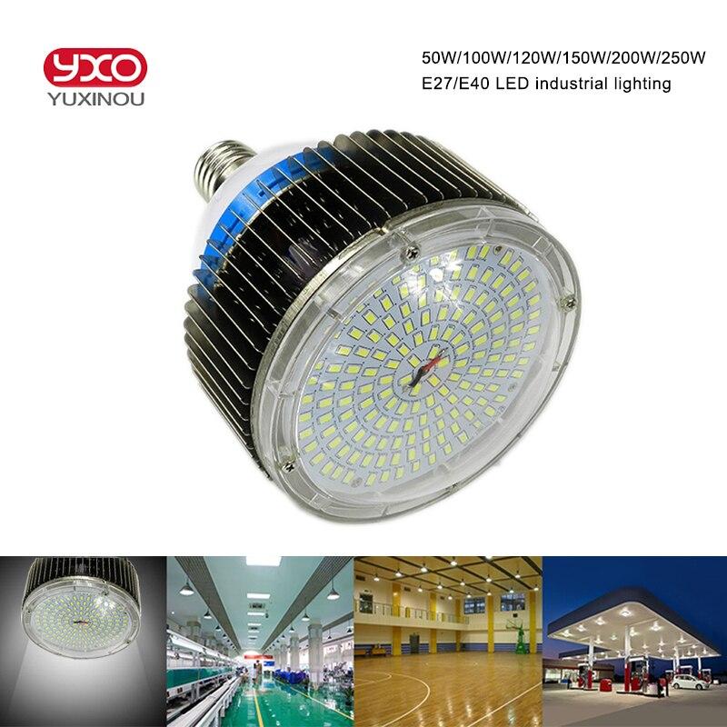 120 w 150 w 200 w 250 w E27 E40 LED industrielle haute baie éclairage 100 w 120 W LED ampoule lampe pour Machine à coudre, usine, entrepôt