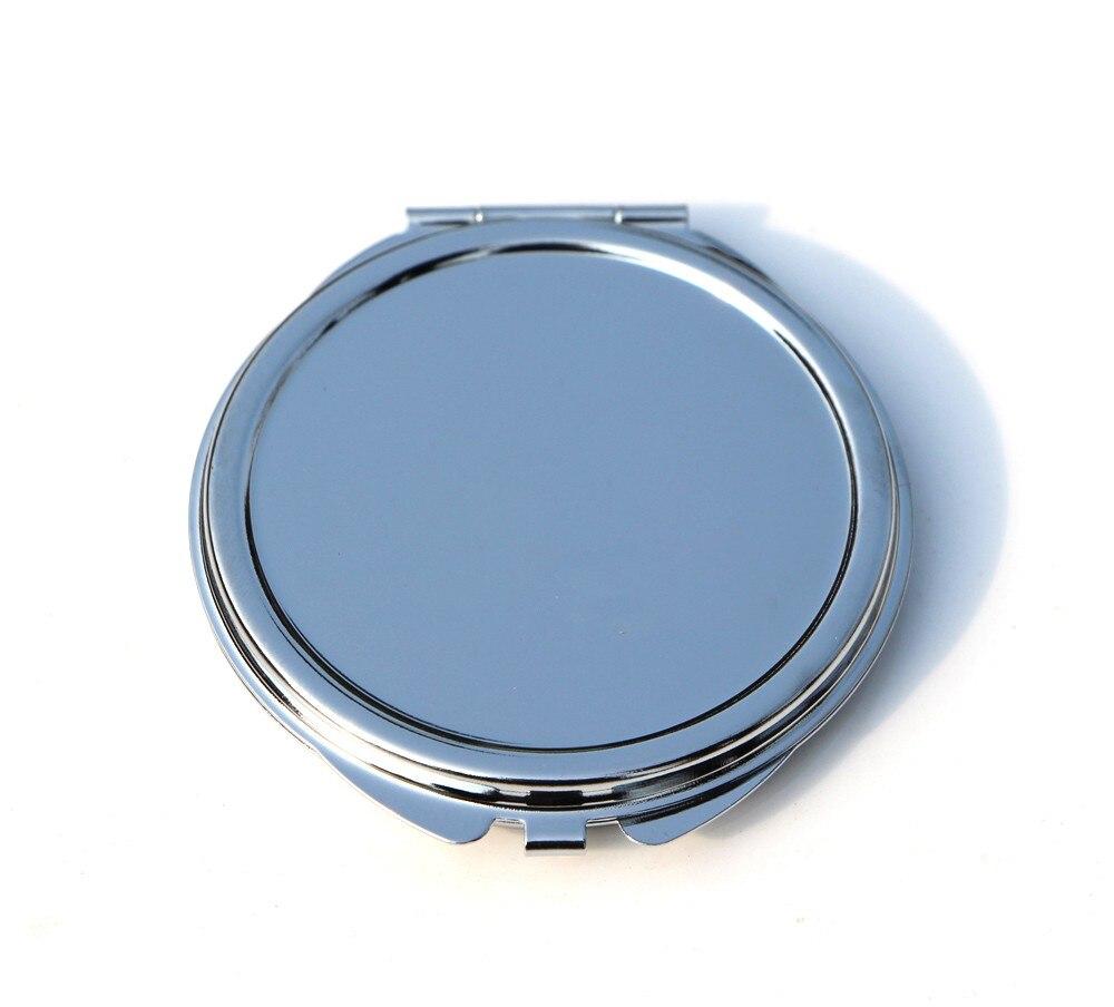 Компактное зеркало серебро 62 мм Пустой плотная Цветочные тиснением для DIY Decoden #18032