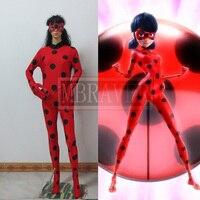 New Miraculous Ladybug Zentai Ladybug Spandex Cosplay Costume Halloween Costumes Suit