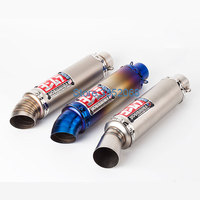 Motorcycle Yoshimura Exhaust Universal ID: 51mm Stainless Steel Motorbike Exhaust Muffler Escape Fit For NC700 CBR500RR GSXR250