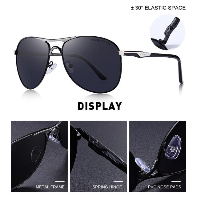 MERRYS - Classic Pilot Sunglasses 2