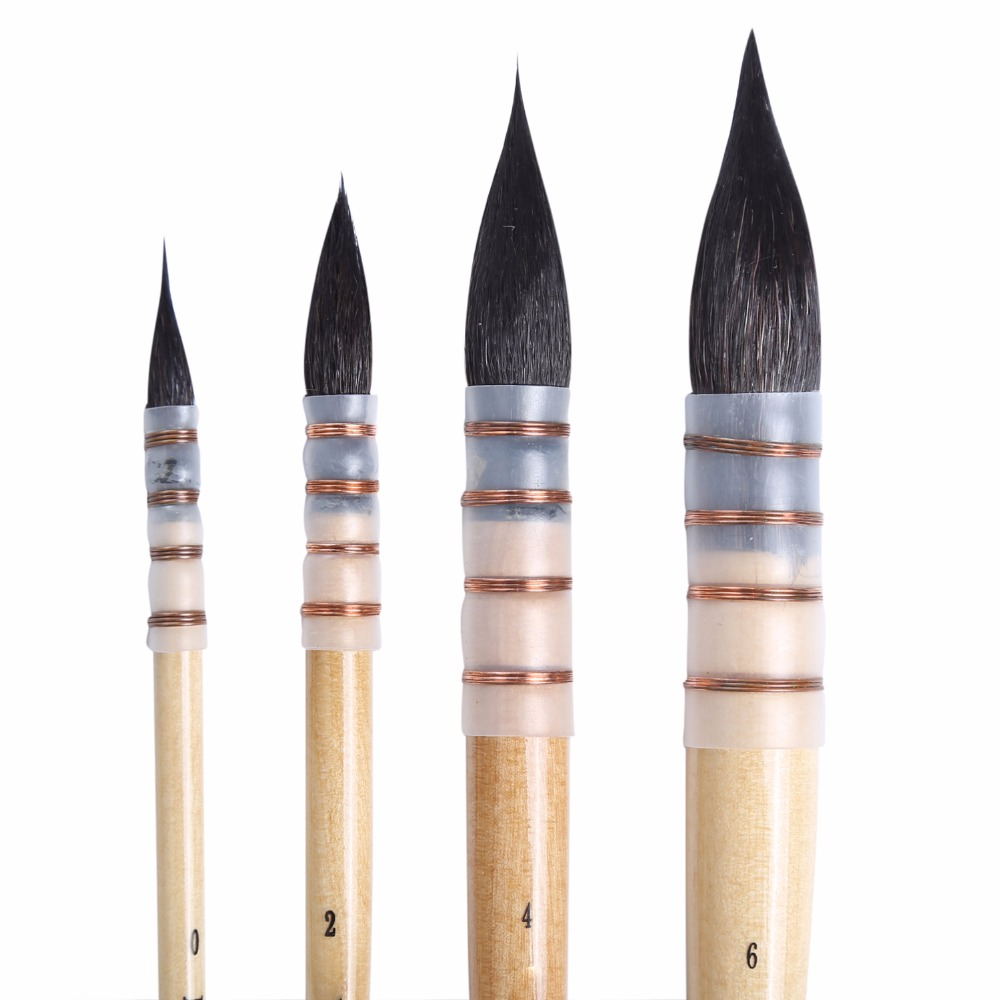 High Quality Squirrel Hair Professional Watercolor Paint Brush Pointed Watercolor Painting Brush For Grandmaster Artist Supplies