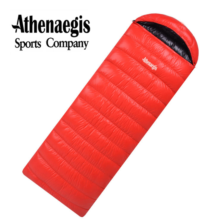 Athenaegis comfortable white duck down 600g/800g/1000g filling can be spliced envelope adult waterproof sleeping bag