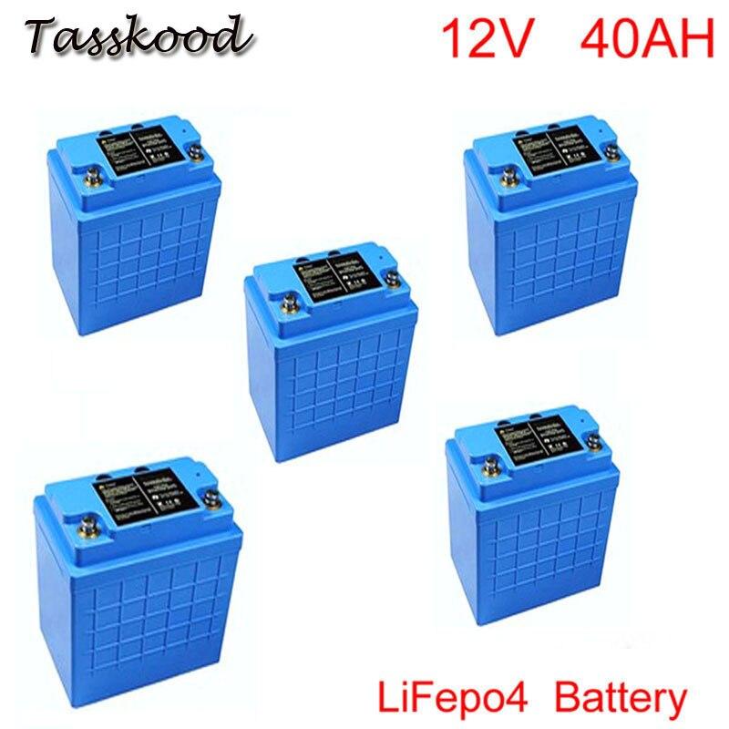 Bateria profunda 12v 40ah lifepo4 do ciclo do fosfato do ferro do lítio recarregável para a luz de rua solar