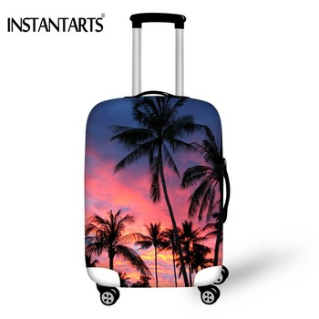 "INSTANTARTS Travel Suitcase Cover 3D Palm Tree Design Luggage Dust Protective Case For ""18-30""inch Thick Trunk Rain Dust Covers"