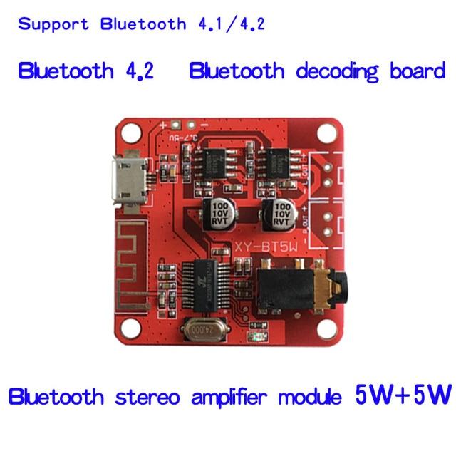 DC 3.7 5 V Bluetooth 4.2 אודיו מקלט 5 w + 5 w סטריאו מגבר כוח לוח קטן סטריאו amp