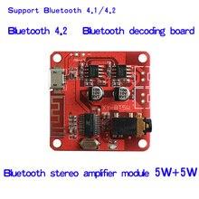 DC 3.7 5 V Bluetooth 4.2 Ricevitore Audio 5 w + 5 w Stereo Amplificatore di Potenza Bordo di piccolo stereo amp
