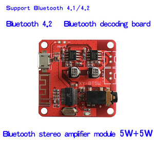 Image 1 - DC 3.7 5V Bluetooth 4.2 Audio Receiver 5w+5w Stereo Power Amplifier Board small stereo amp