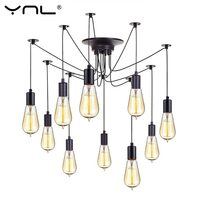 YNL Modern Nordic Retro Edison Bulb E27 2 Meters Line Vintage Lamps Antique DIY Art Spider