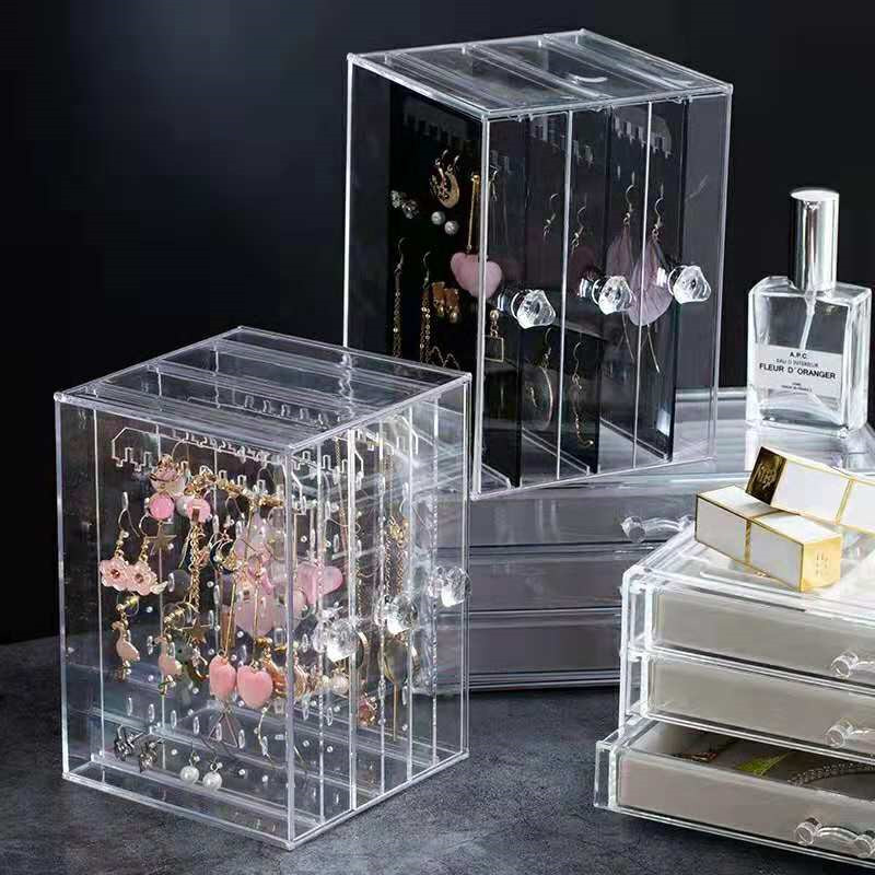 Crystal Jewelry Plastic PS Showing Shelf Necklace Bracelet Rack Earrings Hanger Nail Art Display Stand Make Up Organizer