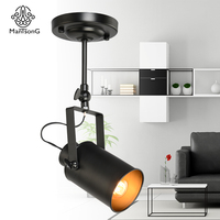 Spotlight Industrial Loft Reflector Lamp Iron Personality E27 Designer For Decor Stage Restaurant Corridor Foyer Parlor