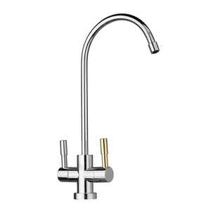 Image 4 - 1/4 Chrome Drinking RO Water Filter Faucet Stainless Steel Finish Reverse Osmosis Sink Kitchen Double Holes Water Intake