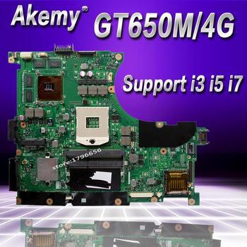 Akemy N56VZ/N56VM Laptop motherboard for ASUS N56VB N56VM N56VZ N56VJ N56V Test original mainboard GT650M-4G Support i3 i5 i7
