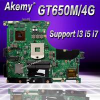 Akemy N56VZ/N56VM Laptop motherboard for ASUS N56VB N56VM N56VZ N56VJ N56V Test original mainboard GT650M 4G Support i3 i5 i7