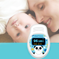Cute Panda Pediatric Oximeter Pulse Oximeter Heart Rate Monitor Finger Oximeter Portable Home Hospital Clinic Medical Equipment