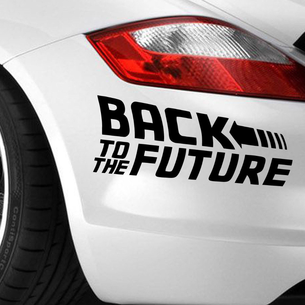 Car bumper sticker designs - Back To The Future 2015 Marty Mcfly Emmett Brown Sticker Vinyl Decal Car Bumper China