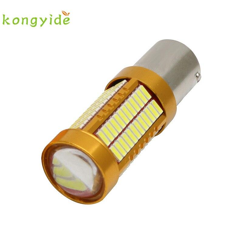 2017 new 2 X 1156 BA15S 4014 106SMD P21W White LED Bulbs Brake Tail Light DC 12V 750LM gift drop shipping june14