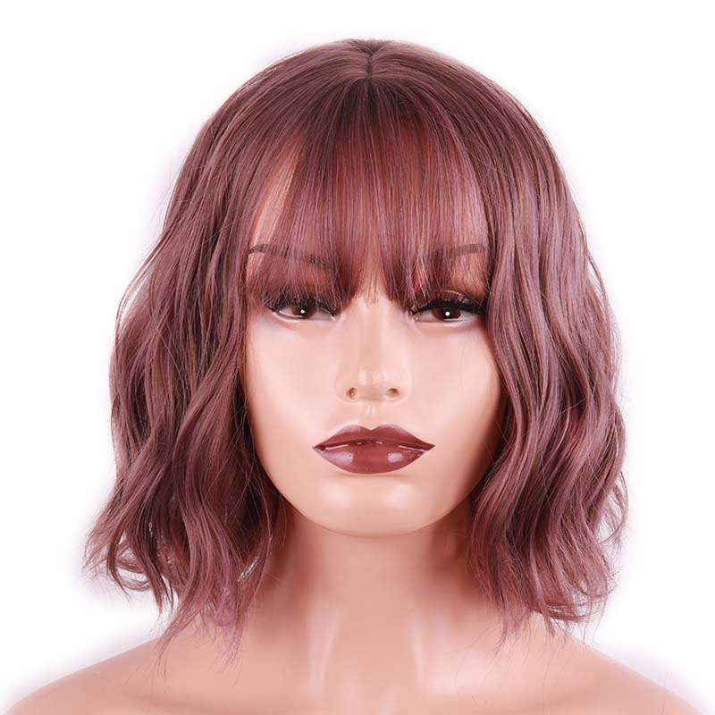 LISI HAIR 24 Inch/12inch Long Wave Bangs Black Brown 8 Colors Available Wigs For Women Synthetic Hair High Temperature Fiber