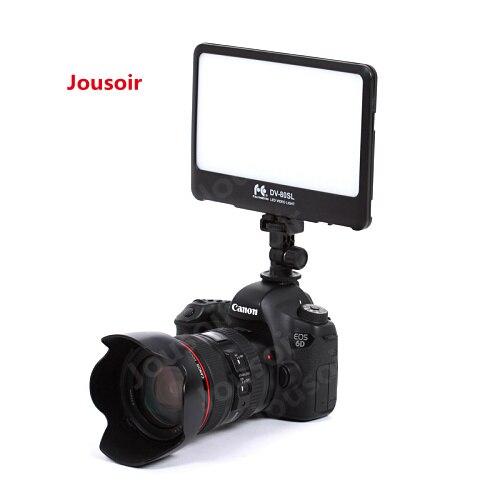 FalconEyes 15 W Portable Super mince LED lumière de remplissage pour appareil photo ou caméscope 80 pièces LED s avec support de poche DV-80SL CD50