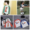 INS  spring  bobo choses fox pattern cartoon baby long sleeved t shirts baby boy clothes clouds cartoon  kikikids bebe kids top