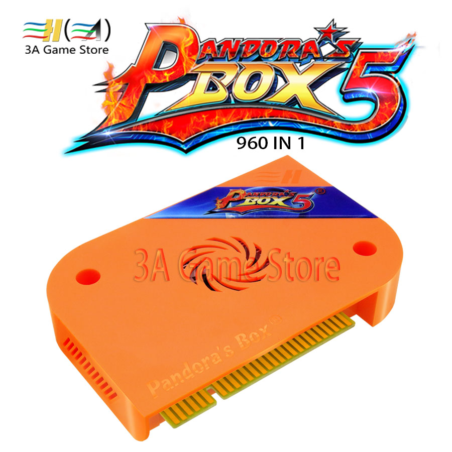 Pandora's Box 5 960 in 1 Jamma Arcade Version HDMI/VGA Output HD 720P Custom Buttons USB Storage Game Board For Arcade Machine heroes of the stom 5 upgraded version 2000 in 1 games jamma multigame pcb board vga hdmi output for led lcd arcade game