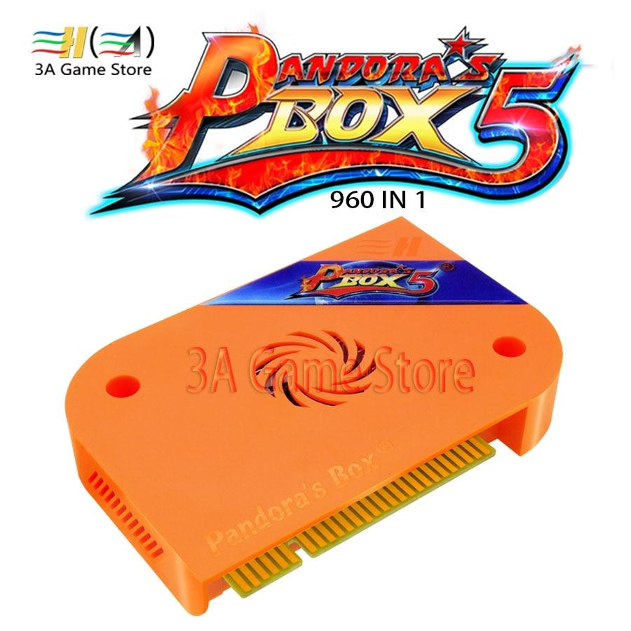 Pandora's Box 5 960 in 1 Jamma Arcade Version HDMI/VGA Output HD 720P Custom Buttons USB Storage Game Board For Arcade Machine