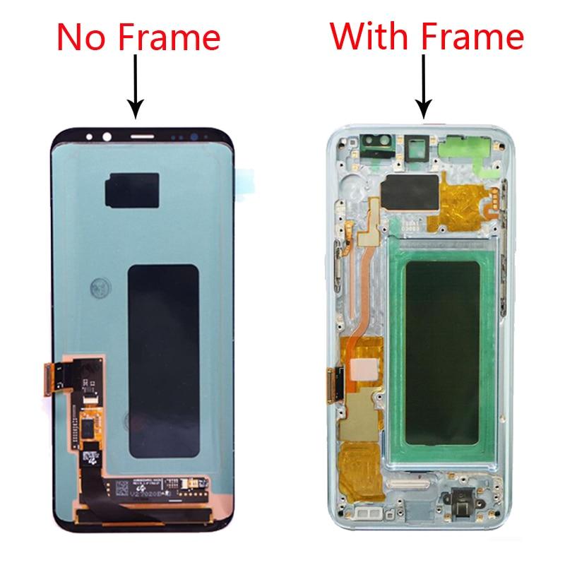 Image 5 - スーパー AMOLED サムスンギャラクシー S8 液晶 S8 プラス Lcd ディスプレイ G950 G950F G955fd  G955F バーンイン影画面ギフト S8 裏表紙    グループ上の 携帯電話