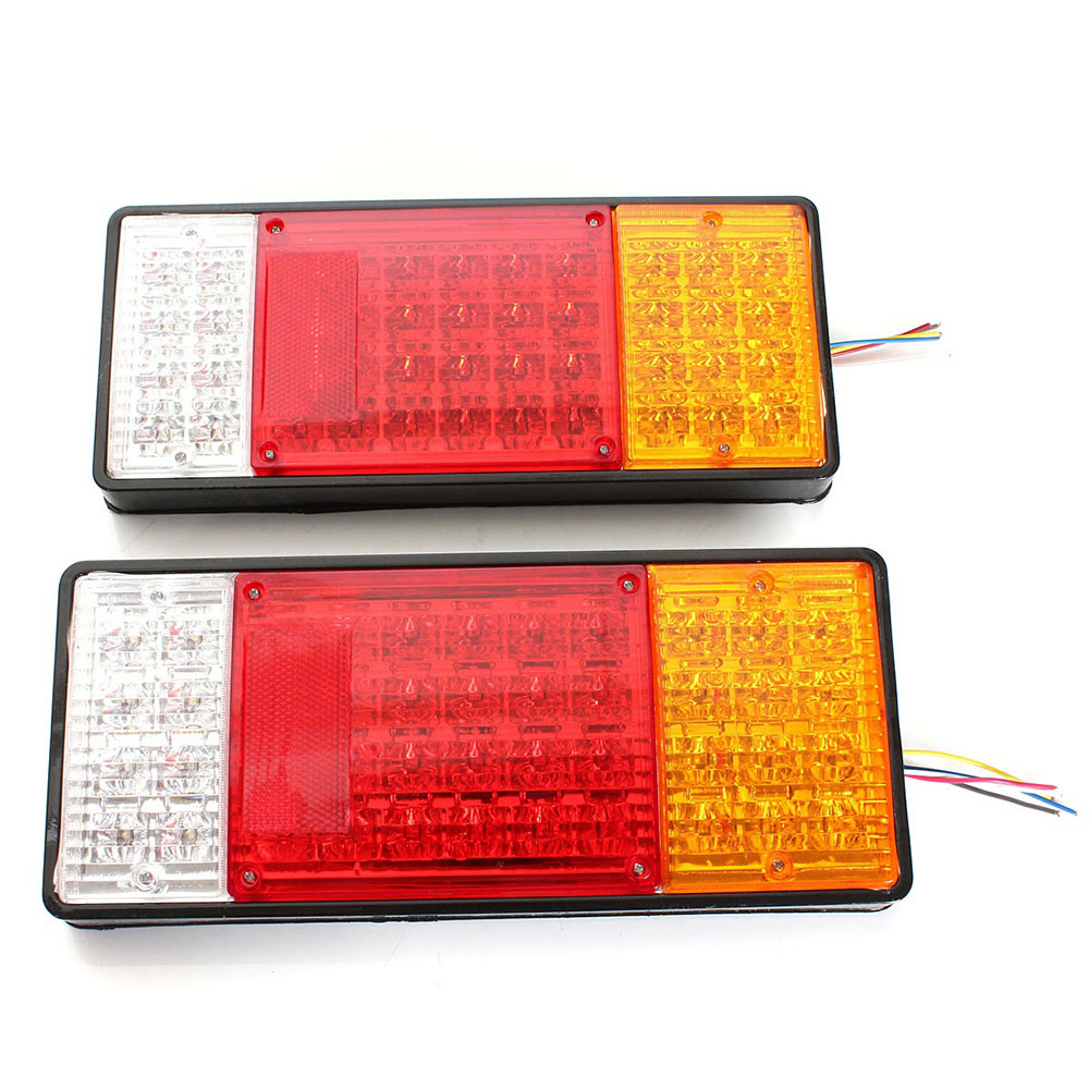 Vehemo 2 шт. задние фонари автомобильные сигнальные огни прочные задние лампы Грузовик Прицеп супер яркий индикатор остановки