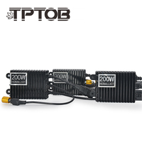 TPTOB 2pcs 200W For HID Bi Xenon Slim Digital Replacement Ballast Reactor Light For H1 H3 H7 9006
