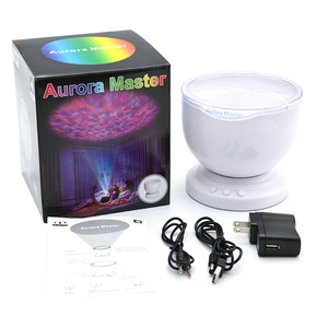 Image 2 - Colorful Sea Wave Ocean Projector Led Night Light Aurora Master Music Player Project Lighting Lamp Kids Bedroom Battery Lamp