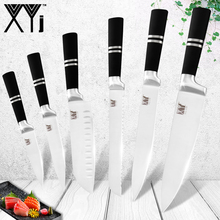 XYj Japanese Chef Kitchen Knives 3Cr13 Stainless Steel Set Accessories Tools